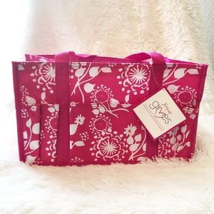 NWT thirty-one caddy tote floral pink
